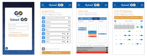 iSolved GO Mobile App for Timekeeping