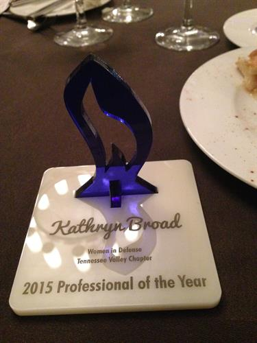 2015 HATS Professional of the Year award to Kathryn Broad