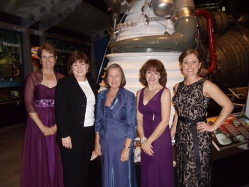 2013 Banquet at the VBC attended by QTEC. (l - r, Patty Popour, Carol Daniel, Kathryn Broad, Shelly Harris & Alisha Humphrey)