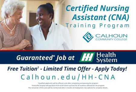 Calhoun and Huntsville Hospital Partner to Offer Free CNA Training