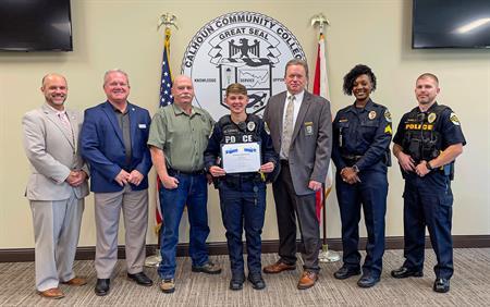 Calhoun and Huntsville Police Department Award First Scholarship Honoring Fallen Officers
