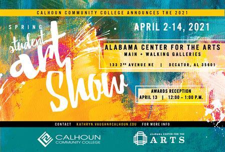 Calhoun Announces Annual Spring Student Art Show