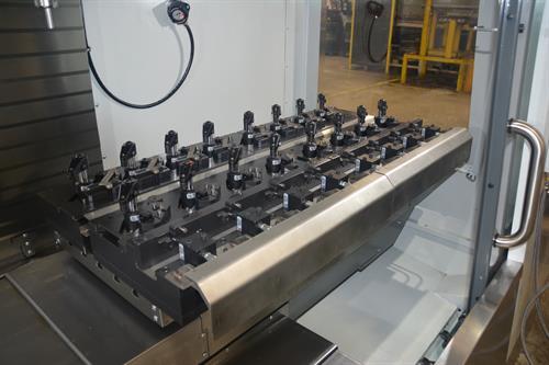 Custom CNC Fixture Installed