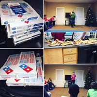 Pizza party & comedy improv at Harris Home - 2016