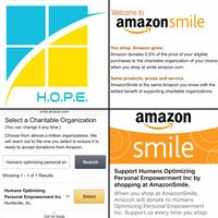 Amazon Smile for H.O.P.E.