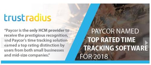 2018 Top Rated Time Tracking Solution by TrustRadius