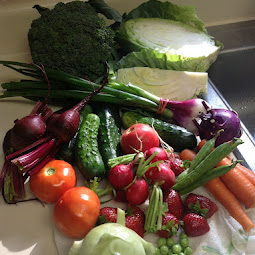 Early autumn CSA share box