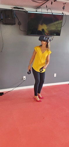 Experiencing the wonder of VR.