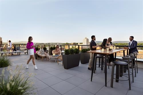 Baker & Able Rooftop Outside Seating