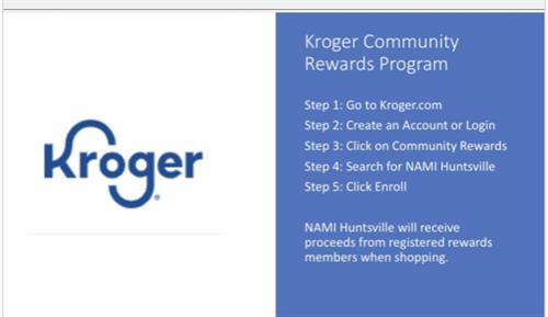 Sign up for the Kroger Community Give Back Program!