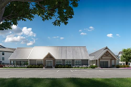 Clubhouse with Starbucks Coffee Bar, Billiard Games, and Outdoor Porch w/ Fireplace
