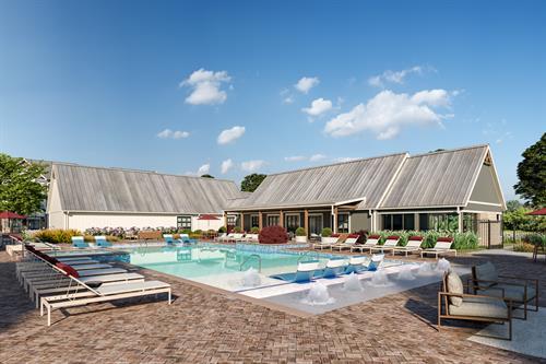 Pool & Spa with Cabanas