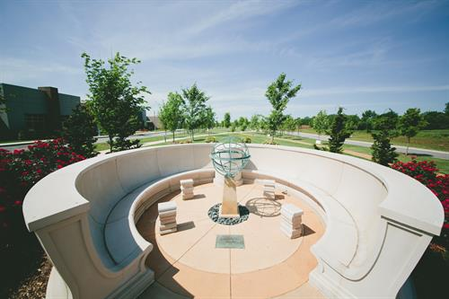Monument at Double Helix Walkway, McMillian Park, HudsonAlpha Institute