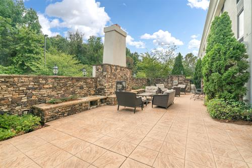 Outdoor Patio with connecting Banquet Room