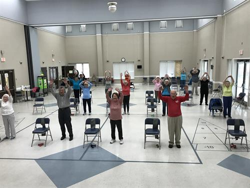 Physical fitness classes are very popular; Balance, line dancing, yoga, ballroom dancing, Tai Chi, pickleball, Senior softball leagues, bowling, and more!