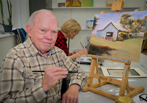 Oil/Acylic/Watercolor painting classes are but some of the MANY art class offerings.