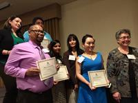 Altrusa Scholarship winners are on a great career path - shown here with Cheryl Daniels.