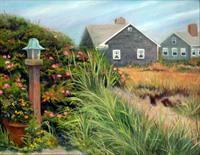 Beach Houses, oil by Mary Kay Ebersold