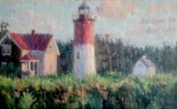 Nauset Beach Light, oil by Arnie Casavant