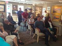 Guests gather for Gallery artist demo