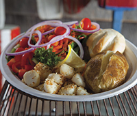 Baked scallops—we offer healthy baked options too!