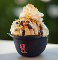 Gourmet ice cream, the perfect way to end a meal at Arnold's!