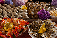 Raw bar with tasty treats from the sea harvested daily!