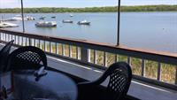 Outdoor Waterfront Deck at Orleans Inn