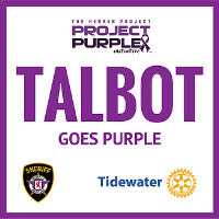 Talbot Goes Purple - September