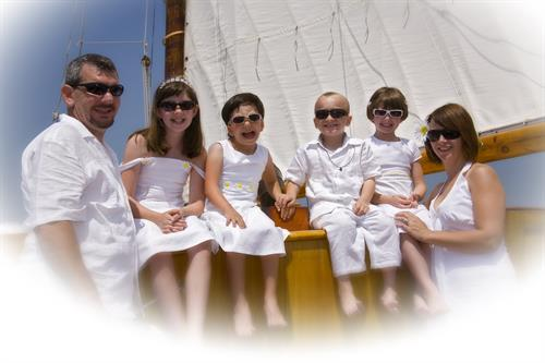 Romantic Nautical Wedding with all the kids, so fun!