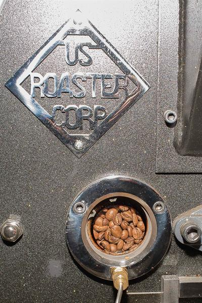 The pride of our operation is our made in Oklahoma City 7K drum roaster