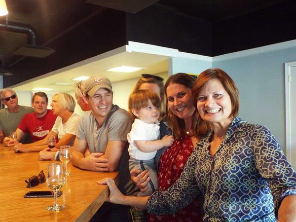 Enjoying family time at Great Shoals Cellars