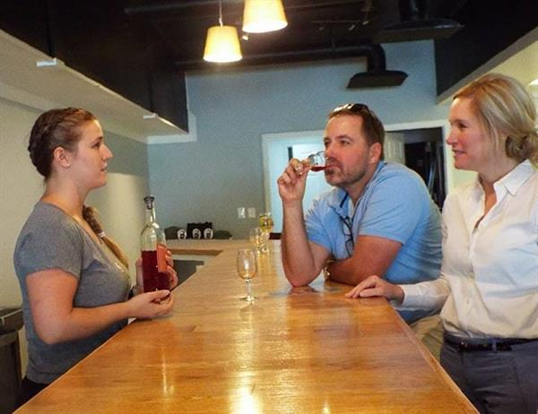Staff at Great Shoals Cellars give details about our Maryland wine and hard ciders