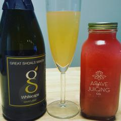 St. Michaels Mimosas - Sparkling wine from Great Shoals and juice from Agave Juice Co