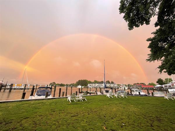 Rainbow over the St. Michaels Harbor
