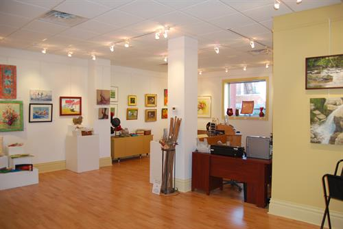 The retail gallery of the Bank of the Arts showcases local and regional artwork