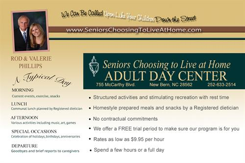 Drop in for a tour of our Senior Day Center!