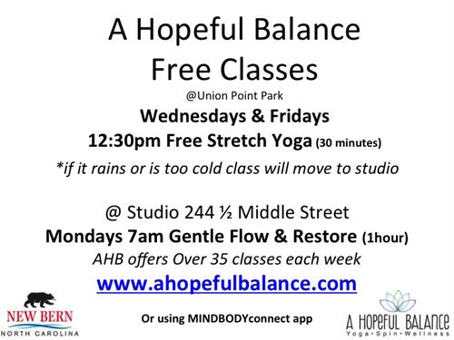 Free Classes offer by the studio