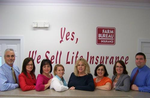 From left to right: David Nelson, Tammy Harris, Linda Drabeck, Sue Hale, Bridget Ipock, Cynthia Giordano, Lisa Scrivener, Tommy Hardy