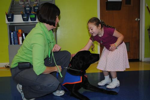 Mr. Moore a special Hearing Dog helping Deaf Kids learn American Sign Language