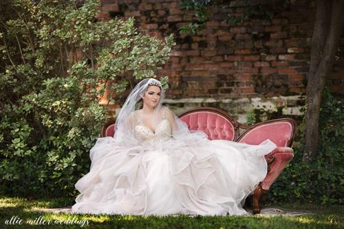 Designer Gown and Custom Juliet Cap - Charming and Quiant Settee at Mumfest