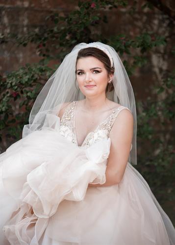 Be the Unique Bride, shop boutique bridal - Priscilla of Boston bridal veil shown