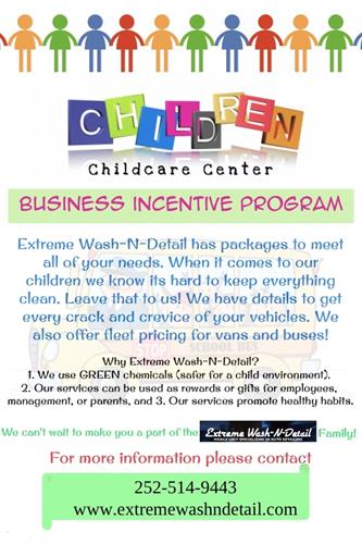 2018 Child Care Incentive Program