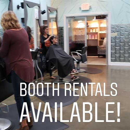Salon booths available for rent