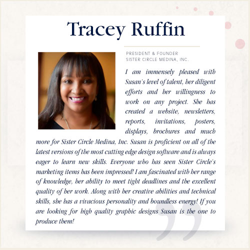 Tracey Ruffin, President & Founder, Sister Circle Medina, Inc.