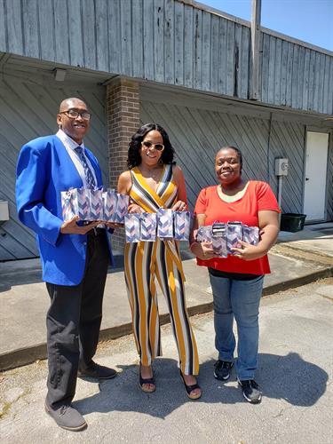 Donation to Coastal Women Shelter of New Bern
