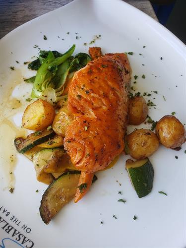 Miami, FL Casablanca restaurant Salmon