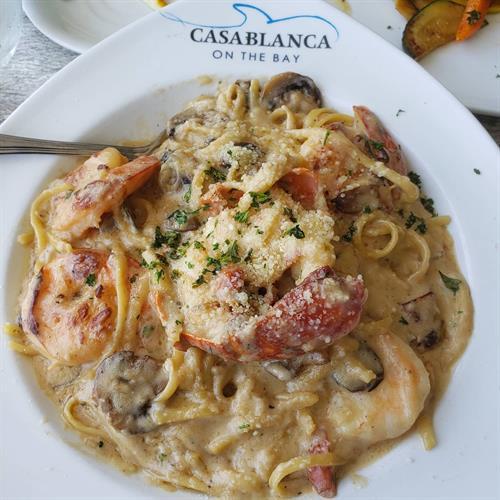 Miami, FL Casablanca restaurant Lobster,Shrimp pasta