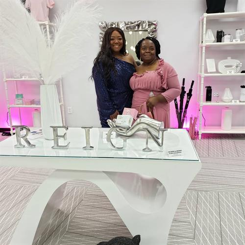 With Ms. Paulenna Reid of Essence/Forbes Mag. Our Grand Opening and 2yr business partners celebration in McDonough, GA June 5th 2021