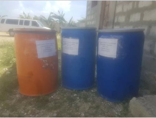 Barrels of donations